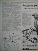 Erie Railroad 50 Cents Day Hires Camel Ad 1945