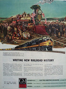 Gen Motors Writing New RR History Ad 1945