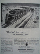 National Lead Bearing The Load Ad 1945
