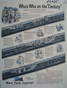 New York Central Whos Who On Century Ad 1945