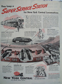 New York Central Super Service Station Ad 1945