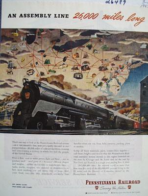 Pennsylvania Railroad An Assembly Line 1945