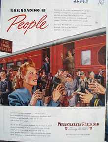 Pennsylvania Railroad Railroading Is People Ad 1945