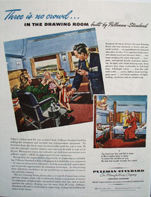 Pullman Standard No Crowd In Drawing Room Ad 1945