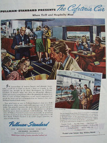 Pullman Standard Presents Cafeteria Car Ad 1945