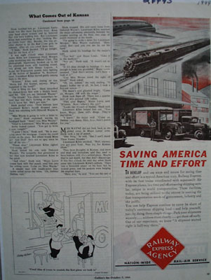 Railway Express Saving Time And Effort Ad 1944