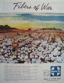 Santa Fe System Lines Fibers Of War Ad 1945