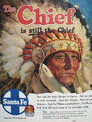 Santa Fe Chief Is Still The Chief Ad 1954