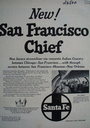 Santa Fe San Francisco Chief Ad 1954