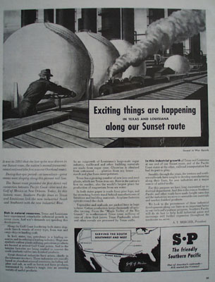 Southern Pacific Exciting Things Happen Ad 1944