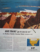 Southern Pacific War Trains Ad 1945