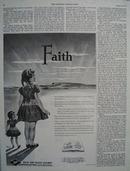 Texas Ad Pacific Railway Faith Ad 1954