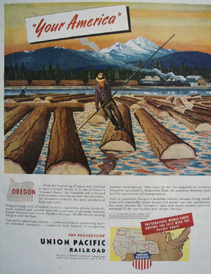 Union Pacific Railroad Your America Ad 1945