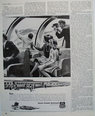 Union Pacific RR See the West Ad 1965