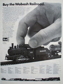 Wabash Railroad Revell Train Set Ad 1968