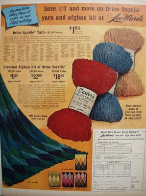 Lee Wards Afghan Kit Ad 1967