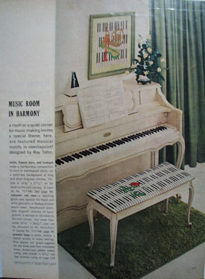 Music Room In Harmony Ad 1968
