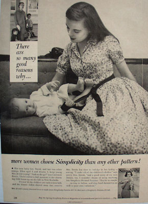 Simplicity Pattern More Women  Choose Ad 1958