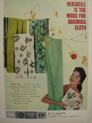 Quadriga Cloth is Versatile Ad 1958