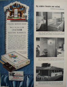 Chatham Electric Blankets Freezing Weather Ad 1951