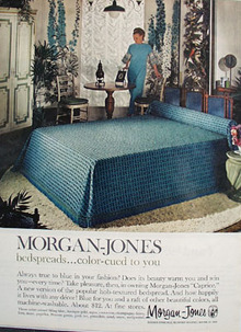 Morgan Jones Bedspreads Ad 1966