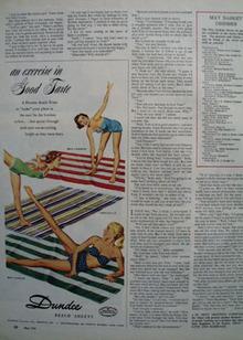 Dundee Beach Sheets Good Taste Ad 1954