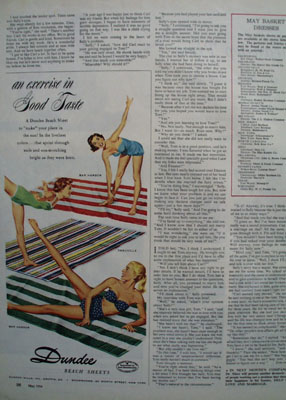 Dundee Beach Sheets Good Taste Ad 1954