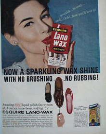 Esquire Lano Wax With No Brushing Ad 1957