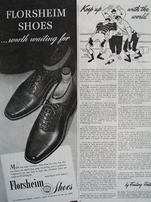 Florsheim Shoes worth Waiting For Ad 1945