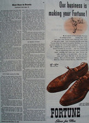 Fortune Shoes Making Your Fortune Ad 1945