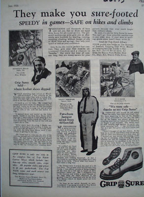 Grip Sure Make You Sure Footed Ad 1926