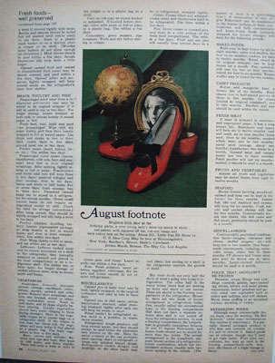Little Van Eli Girls Shoes August Footnote Ad 1965