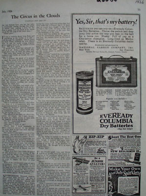 Eveready Columbia Battery Yes Sir Ad 1926