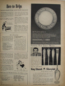 King Edward Silverplate And James Mason Ad 1951