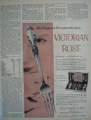 Wm Rogers Silver Victorian Rose Ad 1954