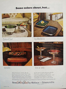 Wallace Silverware Some Colors Shout Ad 1966