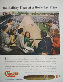 Cinco Cigars.The Holiday Cigar Ad 1947