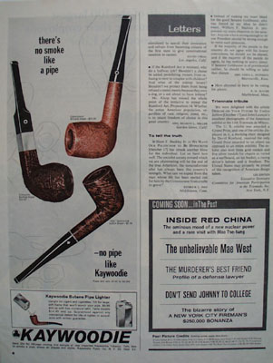 Kaywoodie Pipes No Smoke Like A Pipe Ad 1965