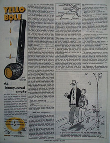 Yello Bole Pipe Honey Cured Smoke Ad 1944
