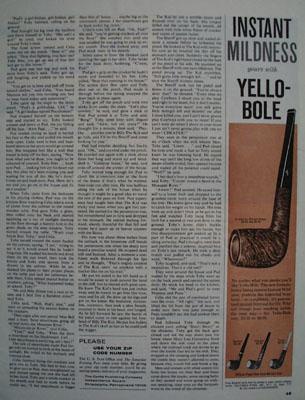 Yello Bole Instant Mildness Ad 1964