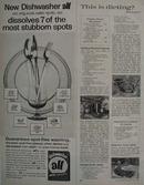 All Dishwasher Dissolves Stubborn Spots Ad 1964