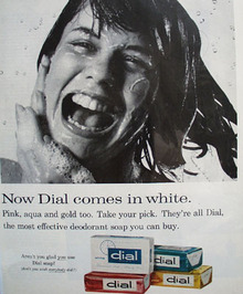 Dial Soap Now Comes In White Ad 1965