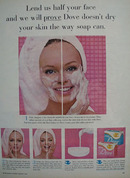 Dove Lend Us Half Your Face Ad 1965