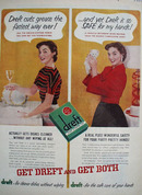 Dreft Dish Soap Cuts Grease Fastest Ad 1954