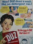 Duz Does A Wash Ad 1954