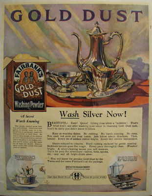 Gold Dust Wash Silver Now Ad 1923