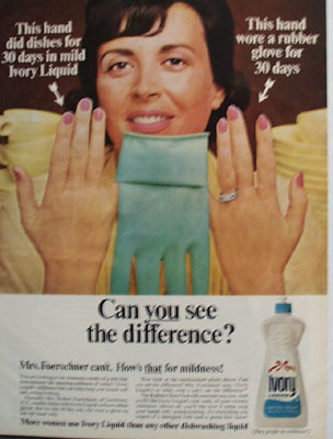 Ivory Liquid Can You See The Difference Ad 1965