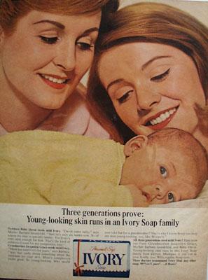 Ivory Three Generations Ad 1965