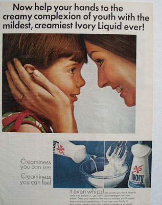 Ivory Liquid Mother And Daughter Ad 1967