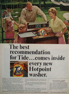 Tide Detergent And Hotpoint Washingmachine Ad 1965